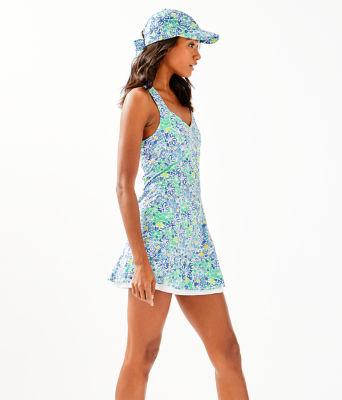 UPF 50+ Sean Tennis Dress, Blue Haven Biancas Love, large 2