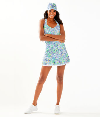 UPF 50+ Sean Tennis Dress, Blue Haven Biancas Love, large 3