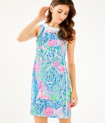 Mila Stretch Shift Dress, Multi Sink Or Swim, large 0