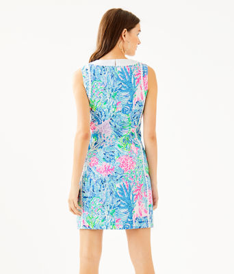 Mila Stretch Shift Dress, Multi Sink Or Swim, large 1