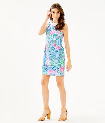 Mila Stretch Shift Dress, Multi Sink Or Swim, large 3
