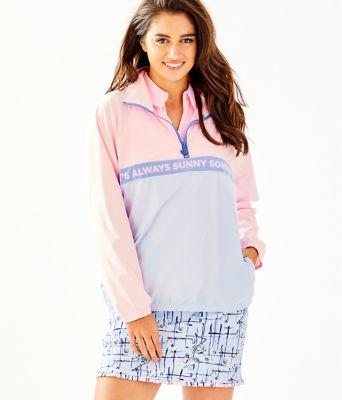 UPF 50+ Tee Time Jacket, Pink Tropics Tint, large 0