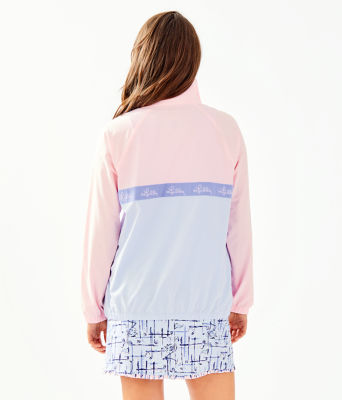 UPF 50+ Tee Time Jacket, Pink Tropics Tint, large 1
