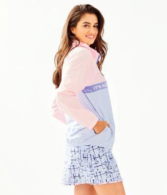 UPF 50+ Tee Time Jacket, Pink Tropics Tint, large 2