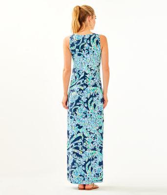 Merrill Maxi Dress, High Tide Navy Scuba Doo, large