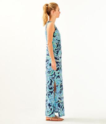 Merrill Maxi Dress, High Tide Navy Scuba Doo, large 2