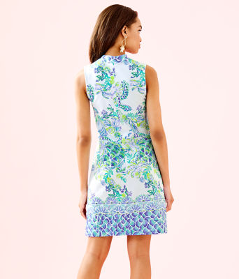 Larsen Shift Dress, Resort White Island Ride Engineered Shift Dress, large 1