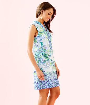 Larsen Shift Dress, Resort White Island Ride Engineered Shift Dress, large 2