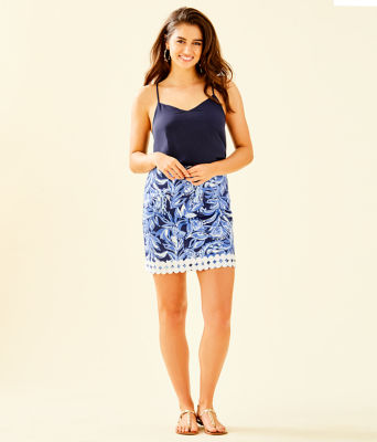 Izzy Skirt, High Tide Navy Youre The Zest, large 3