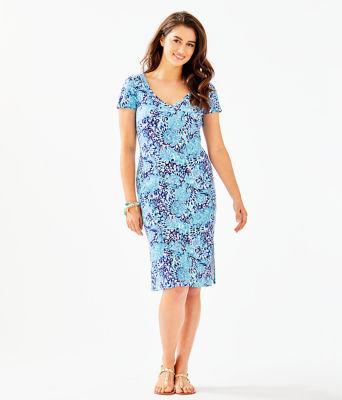 Malin Midi Dress, Light Aqua Spritz, large