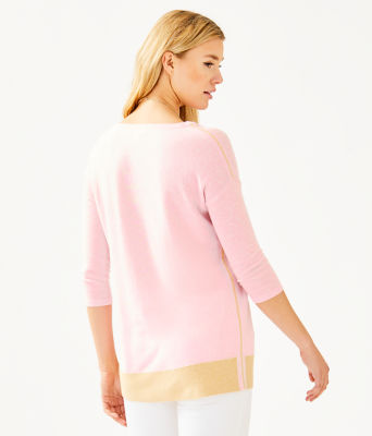 Dayna Sweater, Heathered Pink Tropics Tint, large 1