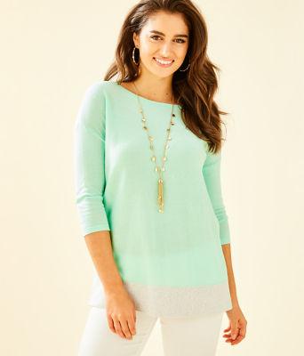 Dayna Sweater, Resort Aqua, large