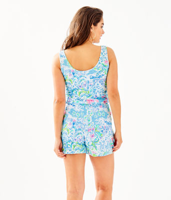 Analee Romper, Multi What A Lovely Place, large
