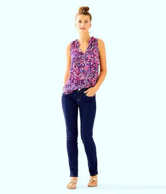 "31"" South Ocean Skinny Jean, Royal Palm Wash, large 4"