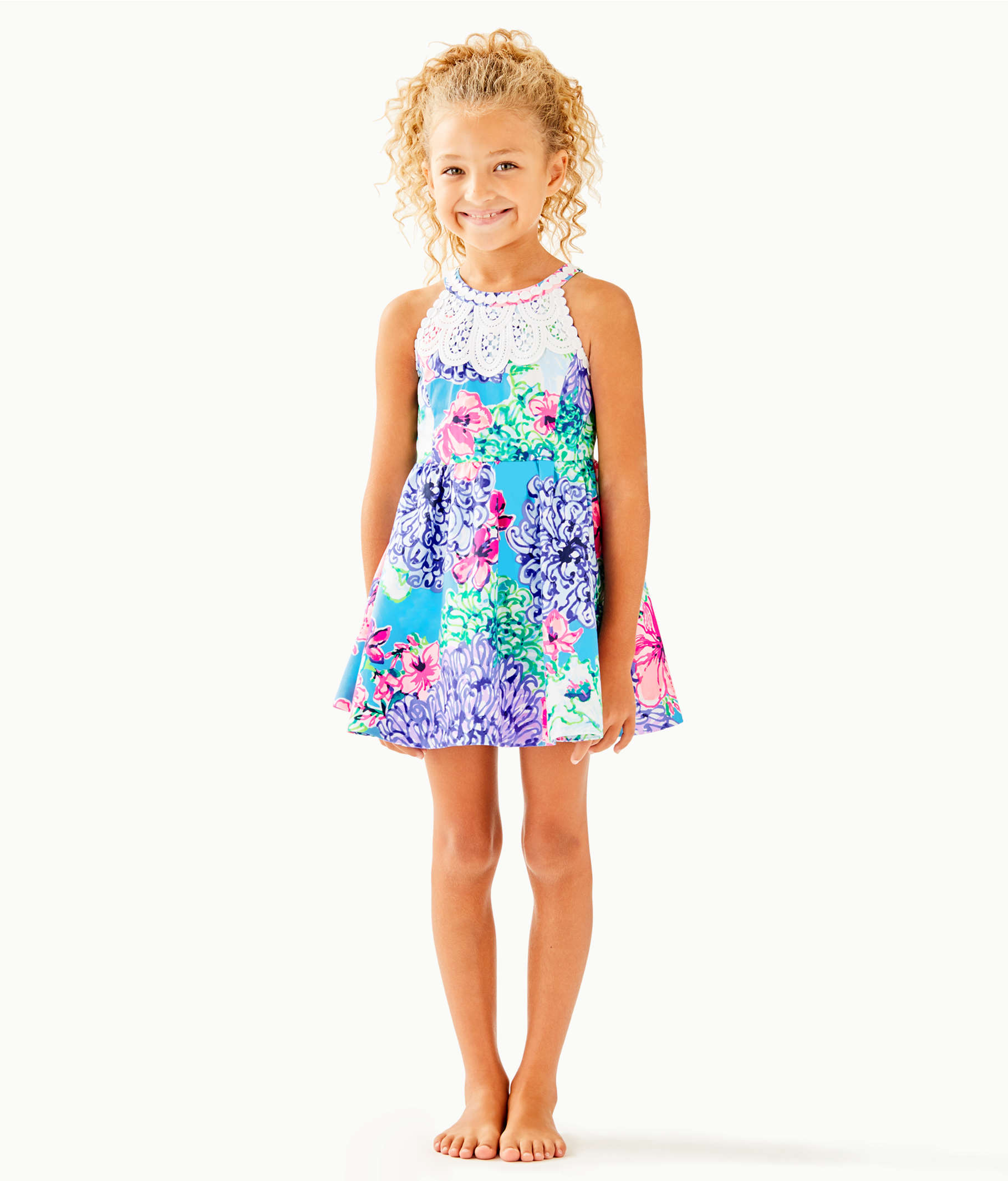 25f549939a5843 Girls Little Kinley Dress, Multi Special Delivery, large ...