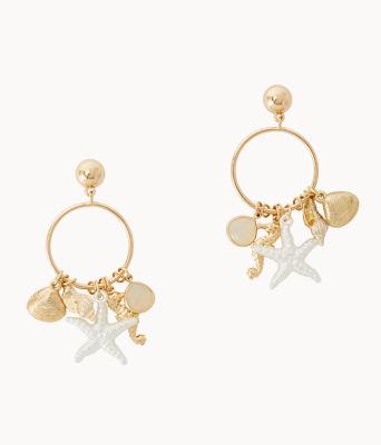Shells Bells Earrings, Gold Metallic, large
