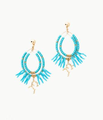 Island Calypso Earrings, Light Aqua, large