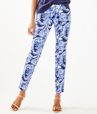 """29"""" Kelly Skinny Ankle Pant, High Tide Navy Youre The Zest, large"""