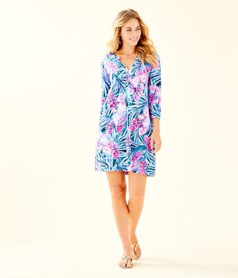 Daphne Dress, Mr Peacock Blue Tweethearts, large 3