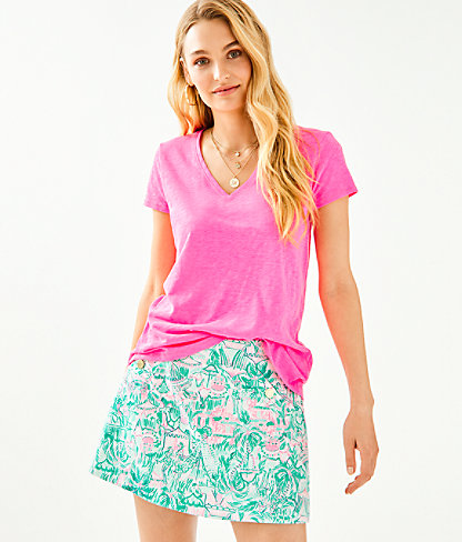 Etta Top, Pink Tropics, large 0