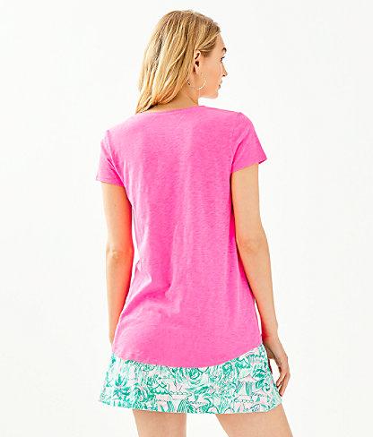 Etta Top, Pink Tropics, large 1