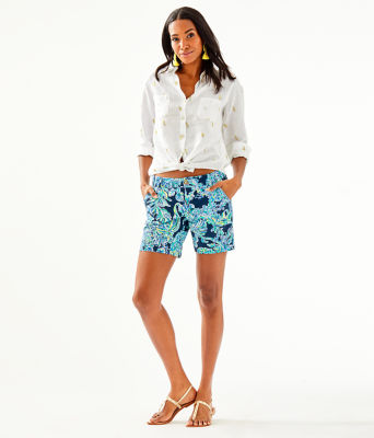Sea View Button Down Top, Gold Metallic Its For Shore Metallic Small, large
