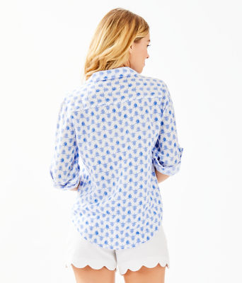 Sea View Button Down Top, Resort White Toe To Toe, large 1