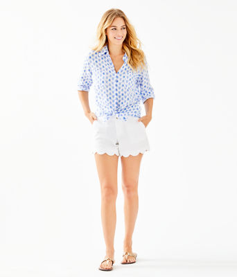 Sea View Button Down Top, Resort White Toe To Toe, large 2
