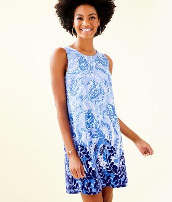 Kristen Dress, Blue Peri Turtley Awesome Engineered Kristen Knit, large