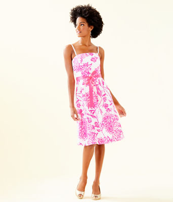 Sienna Dress, Resort White Caliente, large 3