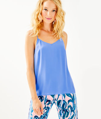 Dusk Racerback Top, Coastal Blue, large