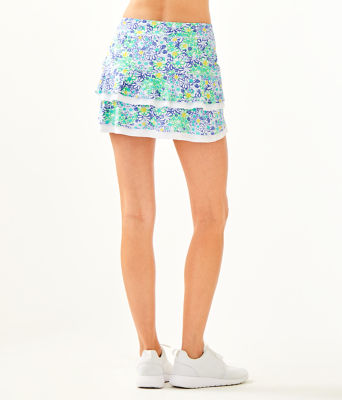 UPF 50+ Luxletic Zela Skort, Blue Haven Biancas Love, large