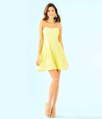 Blossom Dress, Pineapple Juice Oval Flower Petal Eyelet, large 3