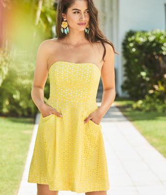 Blossom Dress, Pineapple Juice Oval Flower Petal Eyelet, large 4