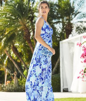 Sloane Dress, Coastal Blue Catch N Keep, large 3