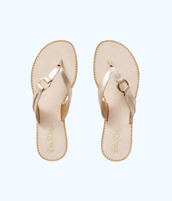 Marina Sandal, Gold Metallic, large