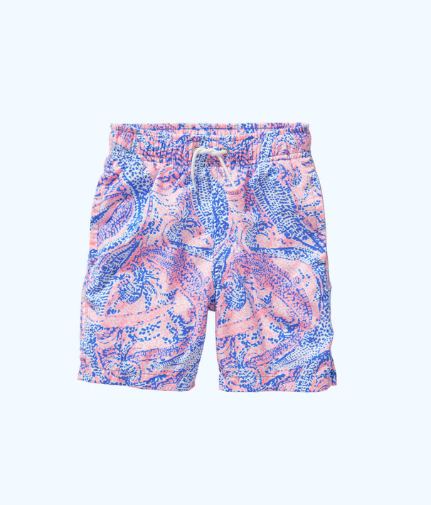 b05daea89c ... Boys Junior Capri Swim Trunks, Coastal Blue Maybe Gator, large ...