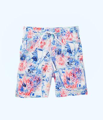 Boys Junior Capri Swim Trunks, Crew Blue Tint Sea To Shining Sea, large 0