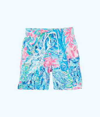 Boys Junior Capri Swim Trunks, Multi Sink Or Swim, large 0