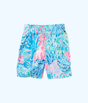 Boys Junior Capri Swim Trunks, Multi Sink Or Swim, large 1