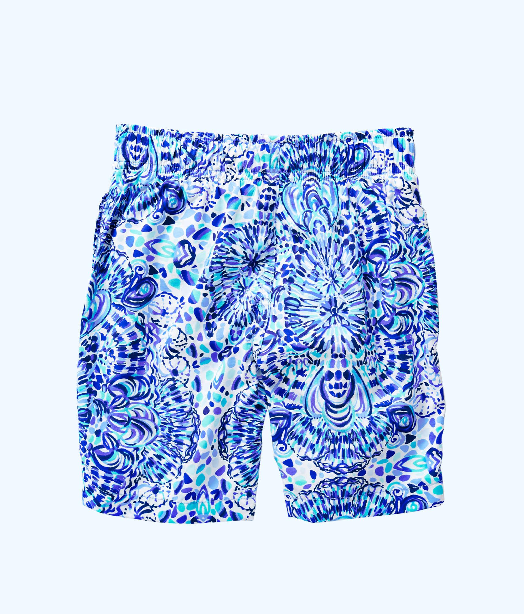 7ddb5c6b54 Boys Junior Capri Swim Trunks, Resort White Call My Shell Phone, large ...