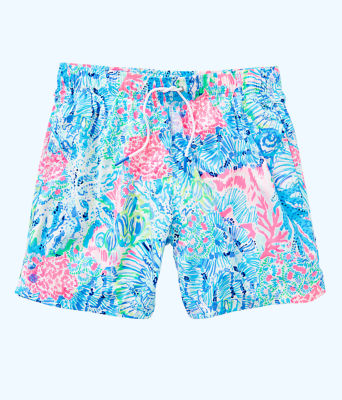 Mens Capri Swim Trunks, Multi Sink Or Swim, large