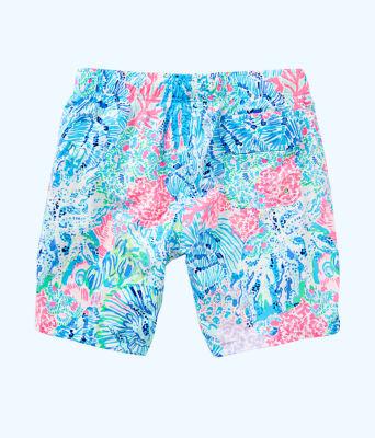 Mens Capri Swim Trunks, Multi Sink Or Swim, large 1