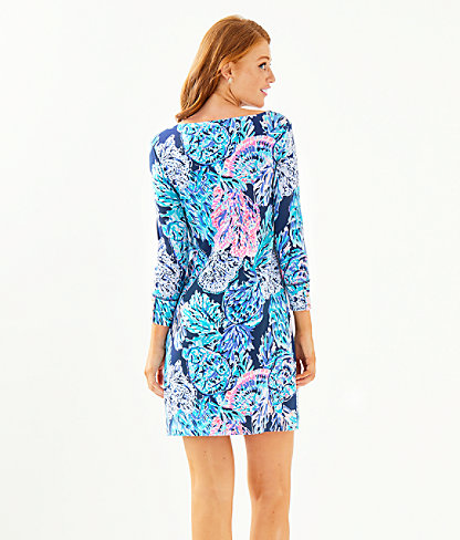 UPF 50+ Sophie Dress, High Tide Navy Party In Paradise, large 1