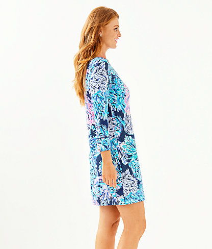 UPF 50+ Sophie Dress, High Tide Navy Party In Paradise, large 2