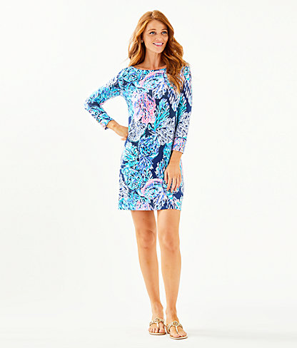 UPF 50+ Sophie Dress, High Tide Navy Party In Paradise, large 3