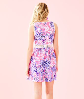 Alivia Dress, Pink Tropics Sun Drenched, large 1