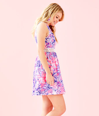 Alivia Dress, Pink Tropics Sun Drenched, large 2