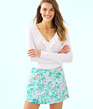 Madison Skort, Bright Agate Green Colorful Camelflage, large