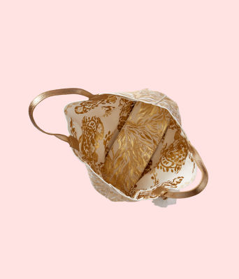 Reversible Shopper Tote, Gold Metallic Turtley Awesome Tote, large 1